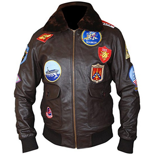 Cazadora de piloto Top Gun con parches
